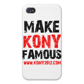 Make Kony Famous - Kony 2012 iPhone 4 Case