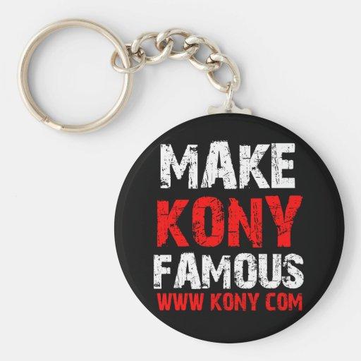 Make Kony Famous - Kony 2012 Keychain