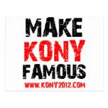 Make Kony Famous - Kony 2012 Postcard
