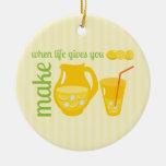 Make Lemonade Christmas Ornaments