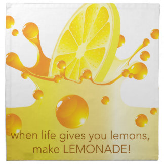 Make Lemonade Cloth Napkin