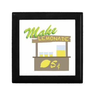 Make Lemonade Jewelry Box