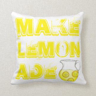 Make Lemonade Lemon Yellow Throw Pillow