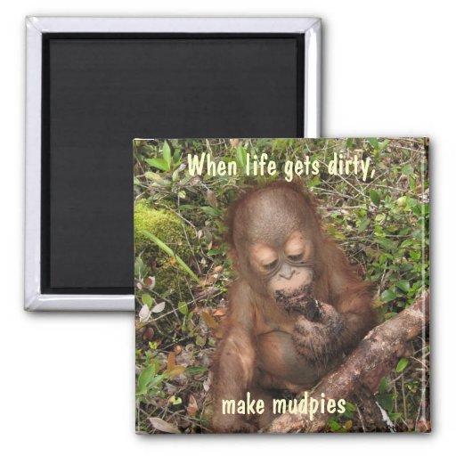 Make Lemonade or Eat Mudpies 2 Inch Square Magnet