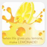 Make Lemonade Square Sticker