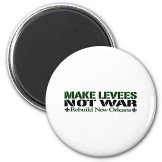 Make Levees Not War 2 Inch Round Magnet