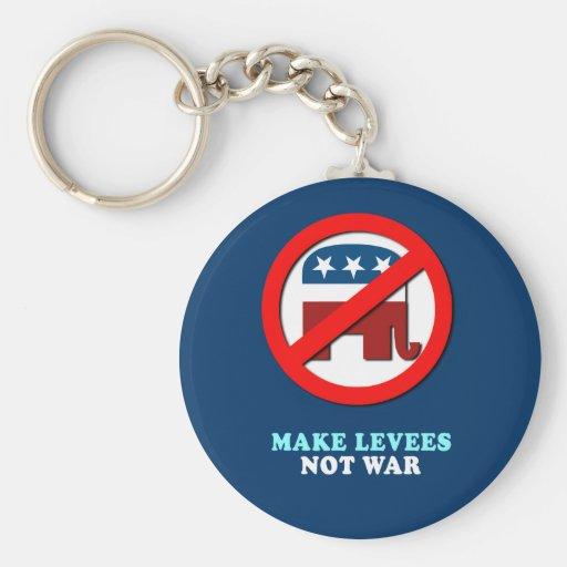 Make Levees not war Basic Round Button Keychain