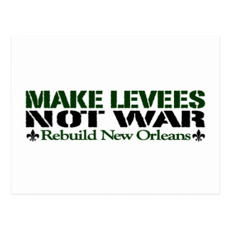 Make Levees Not War Post Card