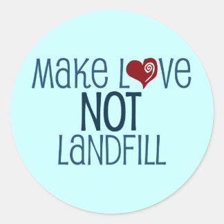 Make Love Classic Round Sticker