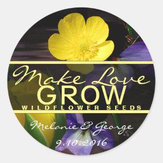 Make Love Grow Stickers
