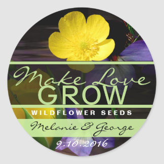 Make Love Grow Sunflower Stickers