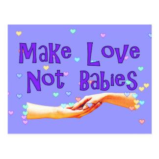 Make Love Not Babies Postcard