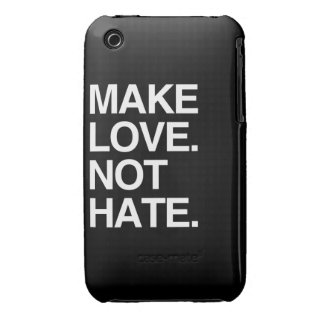 MAKE LOVE NOT HATE iPhone 3 COVERS