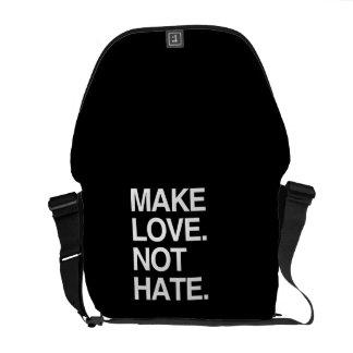 MAKE LOVE NOT HATE MESSENGER BAG