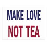 Make Love Not Tea Post Cards