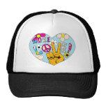 Make Love Not War ~ 60s Hippie Peace Sign Trucker Hat