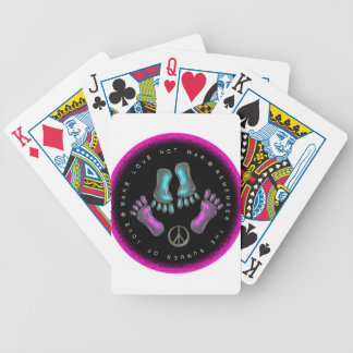 Make Love, Not War Bicycle Playing Cards