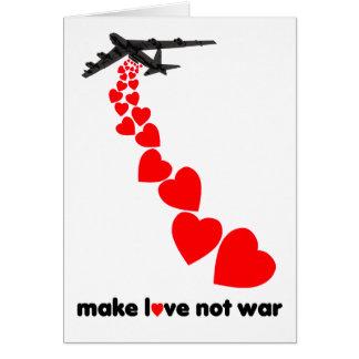 Make love not war card