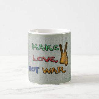 Make love, not war - coffee mug