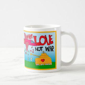 make love, not war ! coffee mug