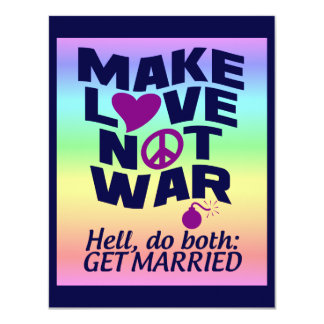 Make Love Not War custom poster Card