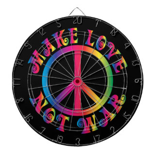 Make Love Not War Dartboard