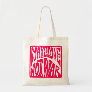 Make Love, Not War - Hippie Design for Peace Bags