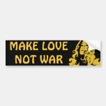 Make Love Not War Hippie Girl Bumper Stickers