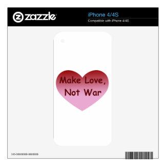 Make Love, Not War iPhone 4S Decals
