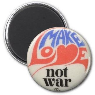 Make Love Not War 2 Inch Round Magnet