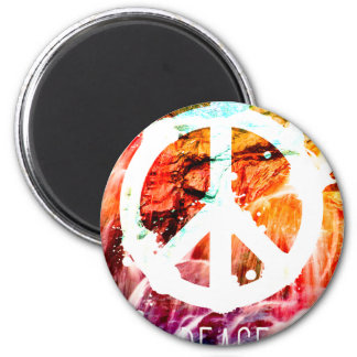 Make Love Not War Peace 2 Inch Round Magnet