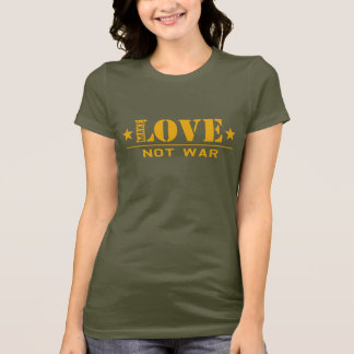 Make LOVE not war - t-shirt