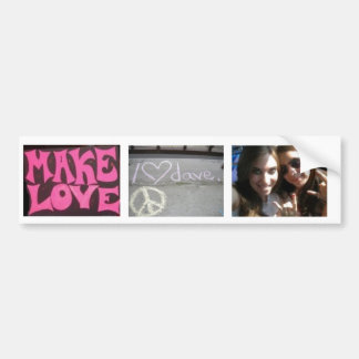 Make Love... Threesome Bumper Sticker