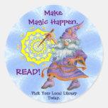 Make Magic Happen.  READ! Classic Round Sticker