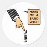 Make Me a Sandwich Classic Round Sticker