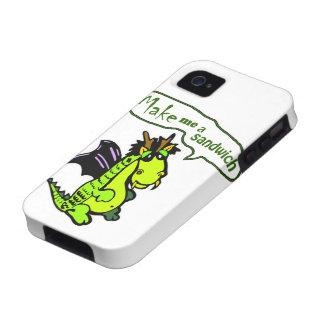 """Make Me a Sandwich"" Dinosaur/Dragon iPhone Case Case-Mate iPhone 4 Case"