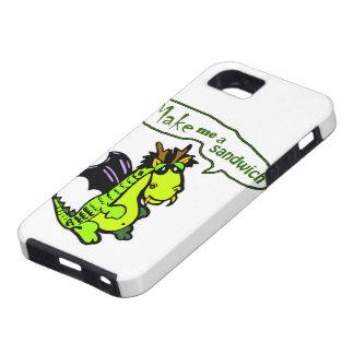 """Make Me a Sandwich"" Dinosaur/Dragon iPhone Case iPhone 5 Case"