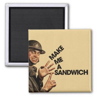 Make me a sandwich 2 inch square magnet