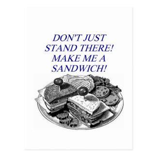 make me a sandwich! postcard