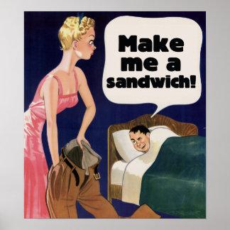 Make me a sandwich poster