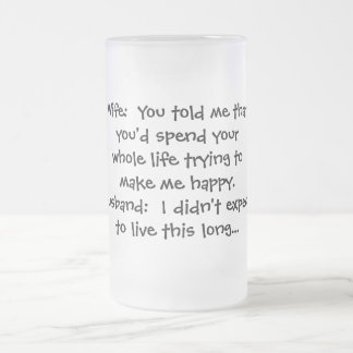 Make Me Happy Frosted Glass Beer Mug