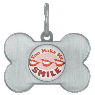 Make Me Smile Pet ID Tag