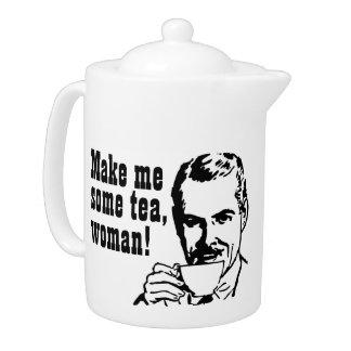 Make Me Some Tea Woman Teapot