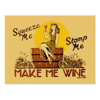 Make Me Wine Postcard