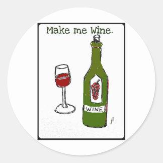 Make me Wine...print by jill Classic Round Sticker
