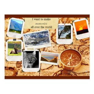 Make Memories Map Postcard