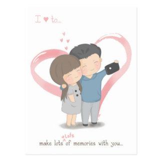 Make Memories Postcard