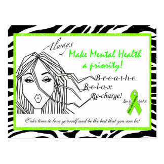 """Make Mental Health a Priority"" Diva Postcards"