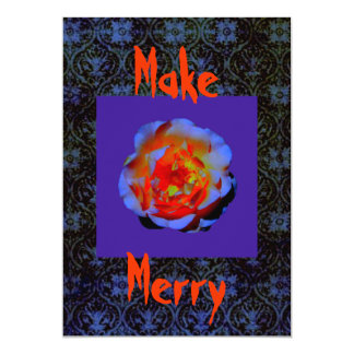 Make Merry Halloween invitation