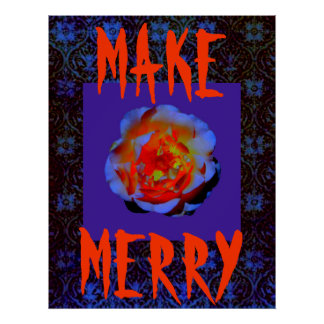 Make Merry Halloween poster